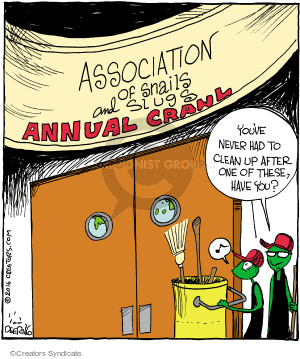 Comic Strip John Deering  Strange Brew 2016-01-22 annual meeting