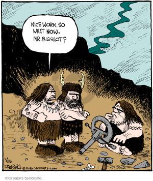 Comic Strip John Deering  Strange Brew 2016-01-25 caveman