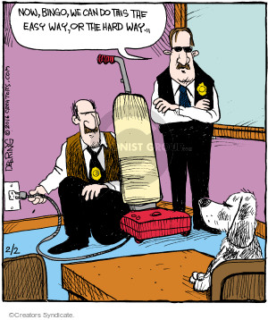 Cartoonist John Deering  Strange Brew 2016-02-02 police