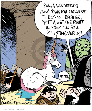 Comic Strip John Deering  Strange Brew 2016-02-05 truth