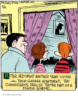 Comic Strip John Deering  Strange Brew 2016-02-06 scam