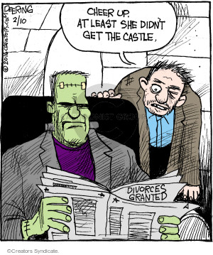 Comic Strip John Deering  Strange Brew 2016-02-10 agreement
