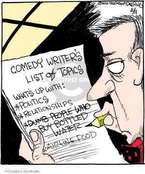 Comic Strip John Deering  Strange Brew 2016-02-11 topic