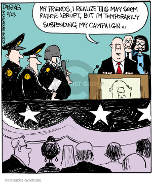 Cartoonist John Deering  Strange Brew 2016-02-23 police