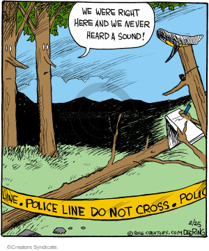 Cartoonist John Deering  Strange Brew 2016-02-25 police