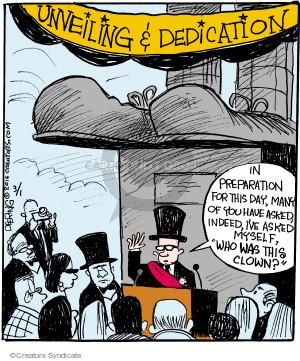 Comic Strip John Deering  Strange Brew 2016-03-01 clown
