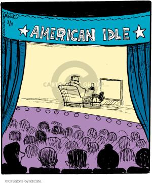 Comic Strip John Deering  Strange Brew 2016-03-11 reality television