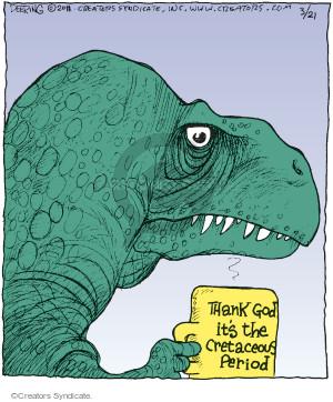 Comic Strip John Deering  Strange Brew 2016-03-21 God