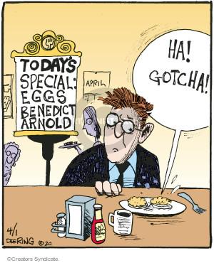 Comic Strip John Deering  Strange Brew 2016-04-01 egg