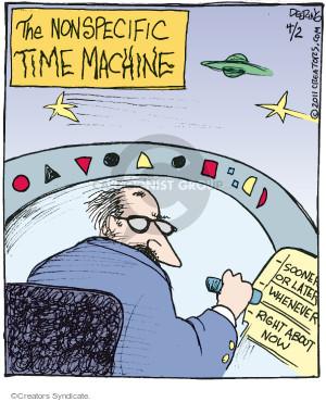 Comic Strip John Deering  Strange Brew 2016-04-02 time traveler