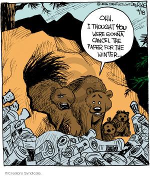 Comic Strip John Deering  Strange Brew 2016-04-18 ohh