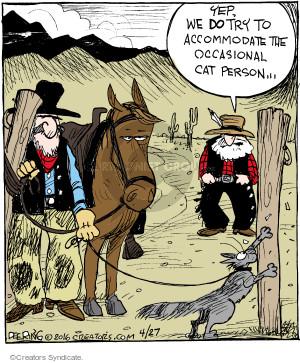 Comic Strip John Deering  Strange Brew 2016-04-27 cat person