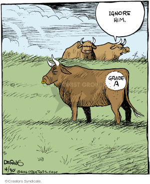 Comic Strip John Deering  Strange Brew 2016-04-30 cow