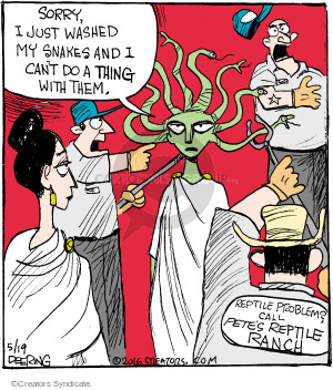 Comic Strip John Deering  Strange Brew 2016-05-19 Greek mythology