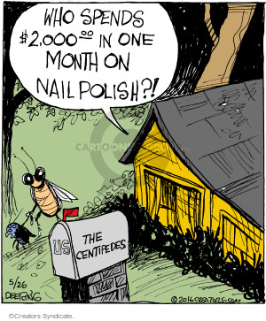 Comic Strip John Deering  Strange Brew 2016-05-26 nail polish