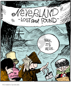 Neverland Lost and Found. Yeah, its here. The Clapper.
