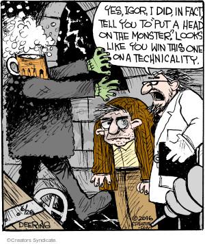 Comic Strip John Deering  Strange Brew 2016-06-28 put