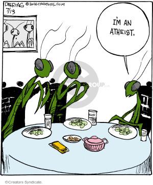 Comic Strip John Deering  Strange Brew 2016-07-13 God
