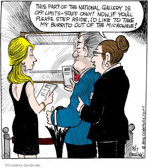 Comic Strip John Deering  Strange Brew 2016-08-17 aside