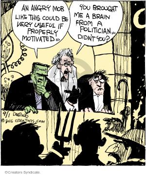 Comic Strip John Deering  Strange Brew 2016-09-01 brain