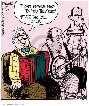 Comic Strip John Deering  Strange Brew 2016-09-07 musical