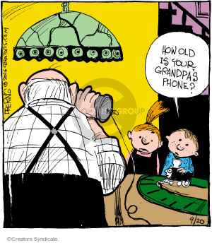 Comic Strip John Deering  Strange Brew 2016-09-20 grandpa