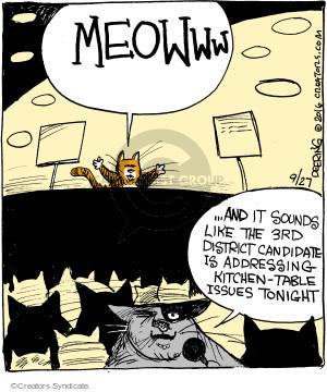 Comic Strip John Deering  Strange Brew 2016-09-27 cat food