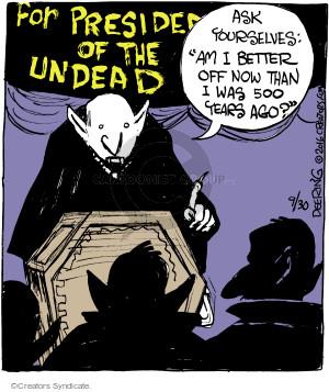 Comic Strip John Deering  Strange Brew 2016-09-30 election