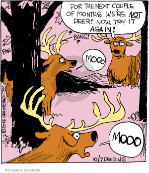 Comic Strip John Deering  Strange Brew 2016-10-07 cow