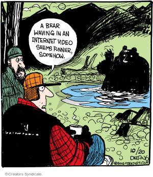 Comic Strip John Deering  Strange Brew 2016-10-20 wildlife