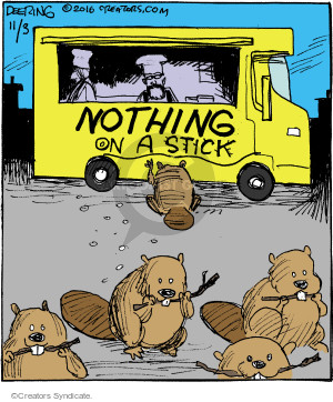 Cartoonist John Deering  Strange Brew 2016-11-03 eat