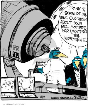 Comic Strip John Deering  Strange Brew 2016-11-09 astronomer