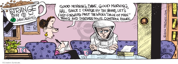 Comic Strip John Deering  Strange Brew 2016-11-27 movie