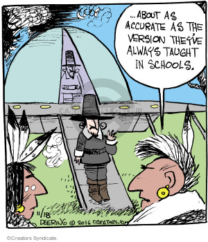 Cartoonist John Deering  Strange Brew 2016-11-18 Thanksgiving