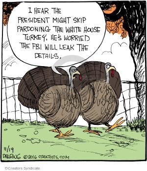 Comic Strip John Deering  Strange Brew 2016-11-19 Thanksgiving