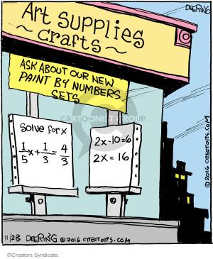 Comic Strip John Deering  Strange Brew 2016-11-28 algebra
