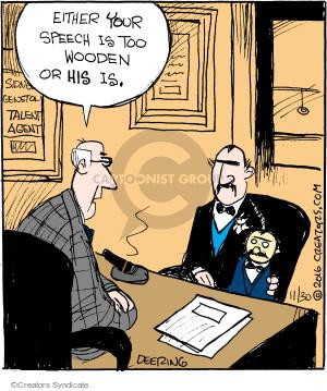 Comic Strip John Deering  Strange Brew 2016-11-30 speech