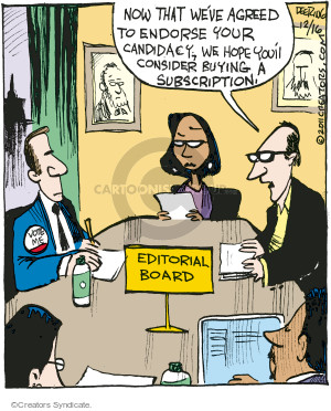 Comic Strip John Deering  Strange Brew 2016-12-16 election