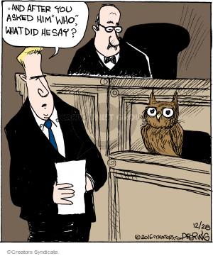 Comic Strip John Deering  Strange Brew 2016-12-28 bird