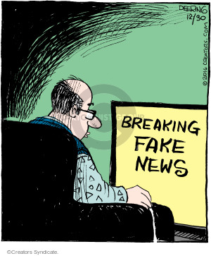 Comic Strip John Deering  Strange Brew 2016-12-30 fake news
