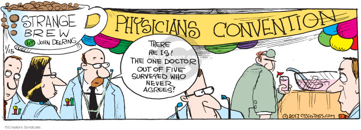 Comic Strip John Deering  Strange Brew 2017-01-15 medical