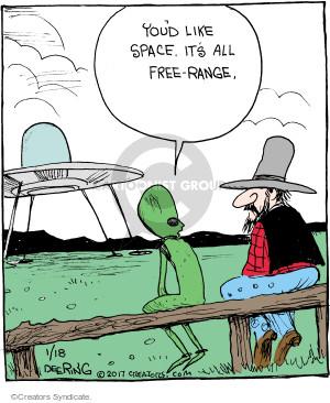 Comic Strip John Deering  Strange Brew 2017-01-18 alien