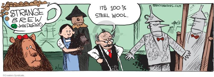 Its 100% steel wool.