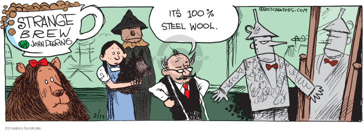 Comic Strip John Deering  Strange Brew 2017-02-19 clothes