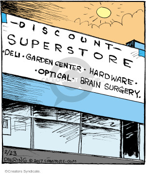 Comic Strip John Deering  Strange Brew 2017-02-23 garden center