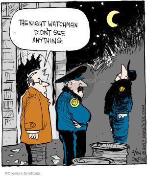 Cartoonist John Deering  Strange Brew 2017-02-24 guard