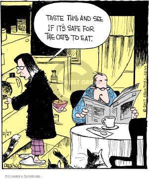 Comic Strip John Deering  Strange Brew 2017-02-27 cat
