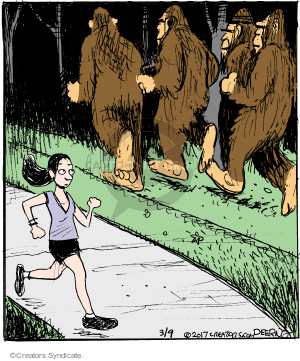 Comic Strip John Deering  Strange Brew 2017-03-09 Bigfoot