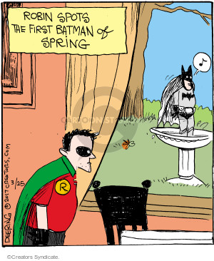 Comic Strip John Deering  Strange Brew 2017-03-25 Batman Robin