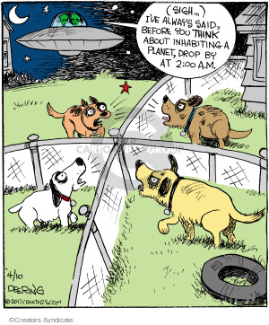 Comic Strip John Deering  Strange Brew 2017-04-10 alien